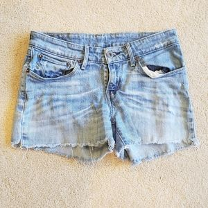 Levi's Distressed Jean Shorts